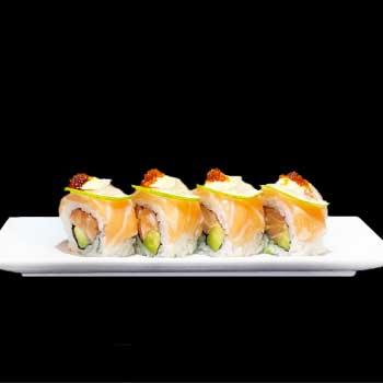 "</p> <div class=""title_menu"">LEMON URA</div> <p> salmone, avocado, limone, salsa teriyaki D <strong>5,50€</strong>"