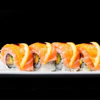 "</p> <div class=""title_menu"">ORANGE URA</div> <p>salmone, avocado, arancia, salsa teriyaki D<br /><strong>5,50€</strong></p> <p>"