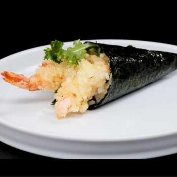 "</p> <div class=""title_menu"">EBITEN TEMAKI *</div> <p>tempura di gamberi, avocado, insalata, alghe<br /><strong>3,80€</strong></p> <p>"