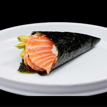 "</p> <div class=""title_menu"">SAKE TEMAKI #</div> <p>salmone, avocado, insalata, alghe, riso, D<br /><strong>3,80€</strong></p> <p>"