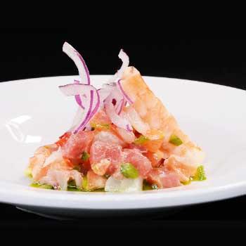 """</p> <div class=""""title_menu"""">CHEVICHE#*</div> <p>pescato misto, cipolla rossa, peperoni, olive evo, limone B,D<br /><strong>6,00€</strong></p> <p>"""
