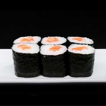 "</p> <div class=""title_menu"">SAKE HOSOMAKI#</div> <p>salmone, alga, riso, D<br /><strong>3,00€</strong></p> <p>"