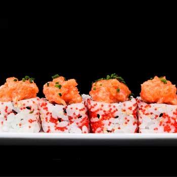 "</p> <div class=""title_menu"">URAMAKI TARTAR SALMONE#</div> <p>tartarte di salmone, tobiko**, arachidi, spicy mayo, alghe, sesamo, riso, tempura A,C,D,E,K,P<br /><strong>5,50€</strong></p> <p>"