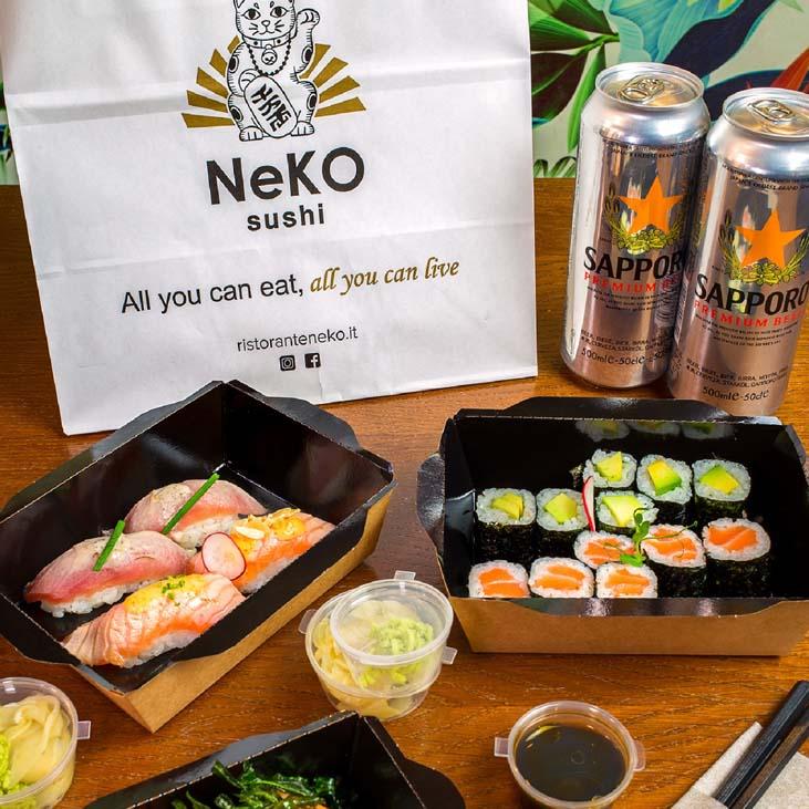 """</p> <div class=""""title_menu"""">NEKO BOX S   20 pz</div> <p> nigiri salmone 2pz nigiri tonno 2pz nigiri thai 2pz uramaki salmone avocado 4pz uramaki ebitempura 4 pz hosomaki salmone 6pz </p> <p><strong>18,00€</strong>"""